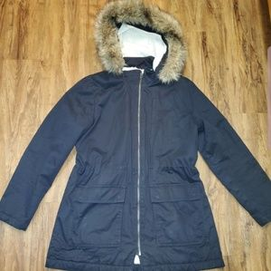 Gap Winter Parka faux fur hood